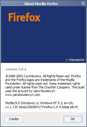 Firefox 1.0.3 stipe